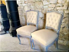 Felújított neobarokk szék - # Vintage Designs, Furniture Design, Dining Chairs, Shabby Chic, Home Decor, Vintage Houses, Rustic, Decoration Home, Room Decor