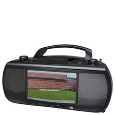 "Coby 7"" Portable TV/Radio/CD/DVD Player | http://www.stoneberry.com"