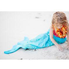 Beautiful mermaid tail towel in blue caviar by @pennynlev