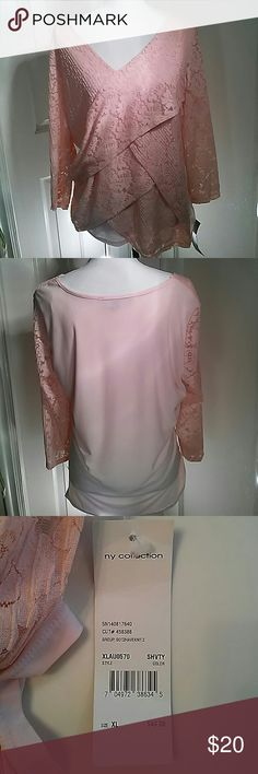 My Collection Peach Blouse New Brand new with tags, peach color,  size x lg My Collection Tops Blouses