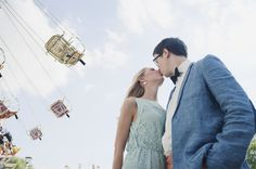 Carnival photo session   Image by Britta Schunck - perfect idea for engagement session, Knoebels!