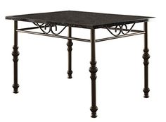 Homelegance Dryden Metal Dining Table with Faux Marble Top Black ** Read more reviews of the product by visiting the link on the image.Note:It is affiliate link to Amazon.