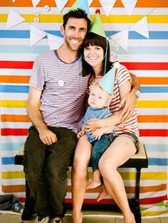 colorful striped photobooth