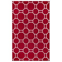 Rizzy Home Azzura Hill Ah9955 00 / Red Area Rug 3 Feet 6 Inches x 5 Feet 6 Inches