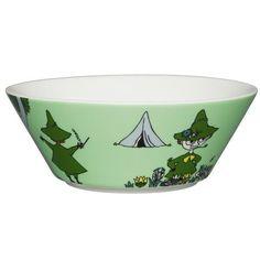 Green Snufkin bowl by Arabia