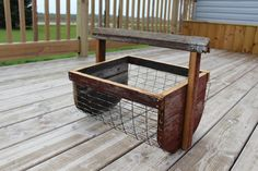 DIY basket- not the shape but a basket with wire and wood.
