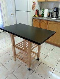 ikea hack make a portable kitchen island, diy, kitchen design, kitchen island, woodworking projects