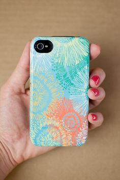Accessories for iPhone - CARNIVAL graphic floral iPhone 5/5s or 4/4s case
