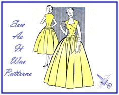 1950s Mademoiselle 3426 Asymmetrical by SewAsItWasPatterns on Etsy