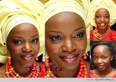 Nigerian wedding make-up and gele