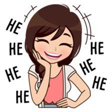 About Alice sticker Love Cartoon Couple, Cartoon Girl Images, Cute Cartoon Pictures, Cute Cartoon Girl, Cute Love Cartoons, Love Quotes For Crush, Cute Love Quotes, Bisous Gif, Cute Drawings Of Love