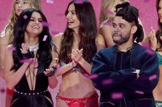 """Selena Gomez and The Weeknd After Selena Gomez and The Weeknd co-hosted the 2016 Victoria's Secret Fashion Show, it was no surprise they ended up connecting on a deeper level. The two were subsequently seen out together hugging and kissing. The """"Can't Feel My Face"""" singer's ex, model Bella Hadid, had broken up with The Weeknd a month prior."""