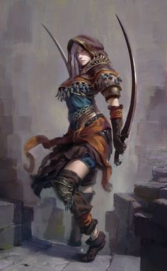 Deadly Warrior Illustration by Vadim Markenchov | #Fantasy #Warriors #DangerousWomen