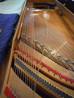 Stringing the Bass Section Piano Restoration, Moving A Piano, Grand Piano, Bass, Musica, Lowes, Double Bass
