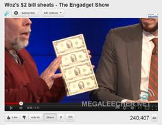 Steve Wozniak - Apple's co-founder prints and spends his own $2 bills...