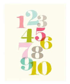 Pink Just Numbers Print