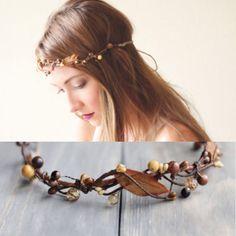 Autumn Hair Wreath, Bridal hair crown, Wedding head piece, Woodland bridal accessory, Autumn hair crown