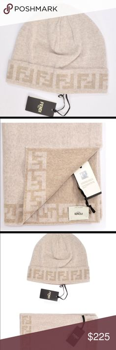 b7a7f7f771b Fendi Scarf and Hat Set Fendi Scarf and Hat set combo. 100% authentic with