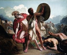 Death of Patroclus. 19th.century. Merry Joseph Blondel. French. 1781-1853. oil on canvas http://hadrian6.tumblr.com