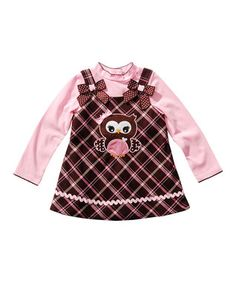 Brown & Pink Jumper & Tee - Infant, Toddler & Girls