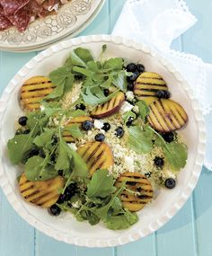 Grilled nectarine and couscous salad