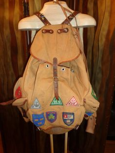 on sale WWII canvas British rucksack frame backpack by Simplemiles, $148.75
