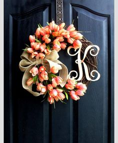 Custom Order for Vanessa Reyes-Savage: Floral by MemphisMomWreaths