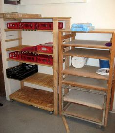 Carts with removable shelves work awesome for greenware.