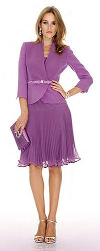 fcc9e6f3d1 Luisa Spagnoli: elegant violet Italian Fashion, Classic Fashion, Classic  Style, Dress For
