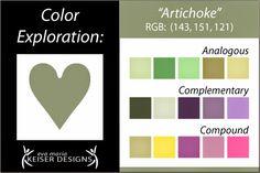 Eva Maria Keiser Designs: Explore Color:  Artichoke