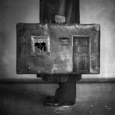 """Home"" by beata-bieniak.deviantart.com on @deviantART  #home #suitcase #bw #art #magic #amazing"