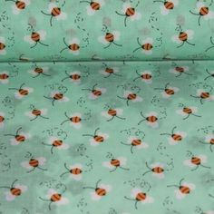 Bees on green - Materiale Textile Bumbac - Materiale textile