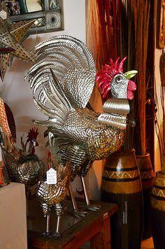 Tin art from #Mexico: Gallo de Hojalata / Artesanía Mexicana 2012