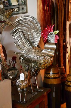 Tin art from #Mexico: Gallo de Hojalata / Artesanía Mexicana 2012