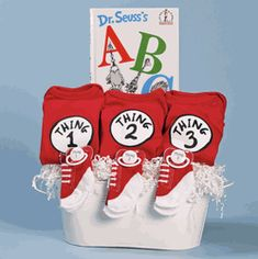 Thing 1, 2 & 3 Gift Basket for Triplets
