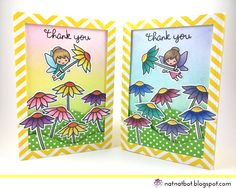 Thank You Fairy Much Mom! A pretty card featuring fairies and flowers perfect for Mother's Day. Stamps from Lawn Fawn