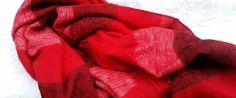 Red stripped shawl - Mayalu Nepalese Handmade Shawls by MayaluShawls on Etsy