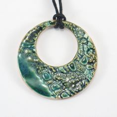 Ceramic Pendants – Ceramic pendant – a unique product by Zielonepalce on DaWanda