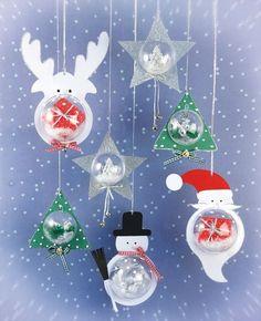 Des boules de Noël sympa a faire avec des boules transparentes