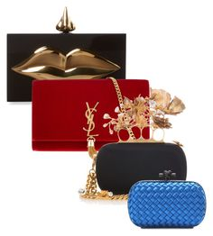 """Cute clutches "" by stylishsirenofficial on Polyvore featuring Charlotte Olympia, Yves Saint Laurent, Alexander McQueen and Bottega Veneta"