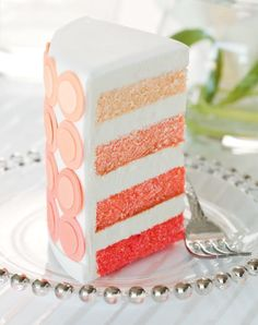 Over the Rainbow Cake (Pink Ombre Cake) by www.akcakedesign.com/