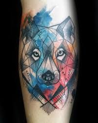 Resultado de imagen para lobo tattoo acuarela