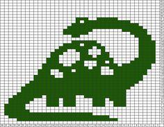 Tricksy Knitter Charts: Brontosaurus by ifangoch - Knitting Baby Boy Knitting Patterns, Fair Isle Knitting Patterns, Fair Isle Pattern, Crochet Stitches Patterns, Knitting Charts, Knitting Stitches, Baby Knitting, Cross Stitch Designs, Cross Stitch Patterns
