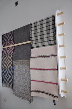 What an idea for displaying or storing rugs, blankets, scarves, table linens, etc.!  Can be made to ANY width.