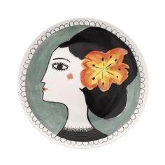Orange Flower Plate - Katy Leigh