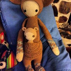 KIRA the kangaroo made by Jeannie and Alice / crochet pattern by lalylala