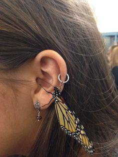 Sterling Cartilage No Piercing Ear Cuff Spiral Handcrafted in USA - Custom Jewelry Ideas Looks Cool, Kanye West, Selfies, Piercings, Ear Piercing, Jewelery, Butterfly, My Style, Pretty