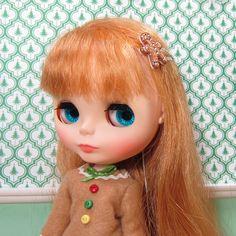 Gingerbread boy barrettes for Blythe dolls