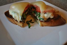 Provolone smothered chicken breast.