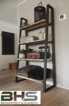 Welded Furniture, Pallet Furniture, Bedroom Furniture, Steel Shelving, Small Woodworking Projects, Steel Table, Fashion Room, Industrial Style, Diy Design